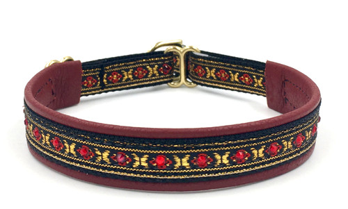 "1/2"" Channel Set Red Swarovski Collar"