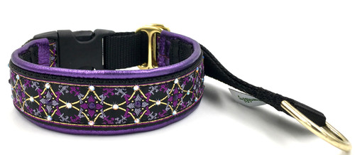 "1"" Purple Etoile Swarovski Crystal Private Prong Collar"