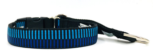 "1"" All Lined Up in Blue Private Prong Collar"