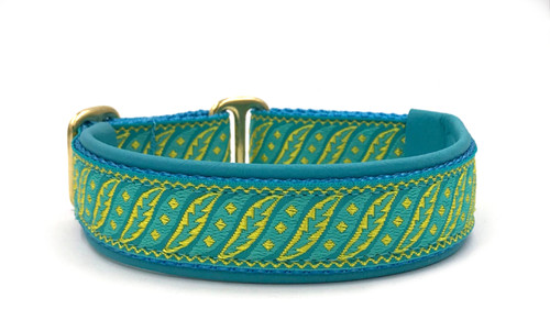 "1"" Aqua Fancy Fronds Elite Collar"