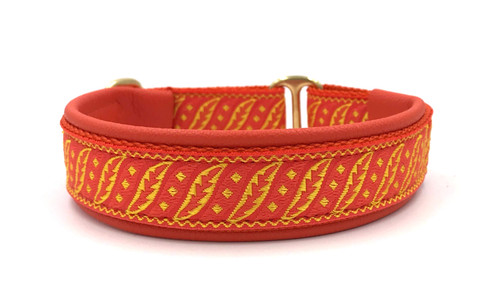 "1"" Orange Fancy Fronds Elite Collar"