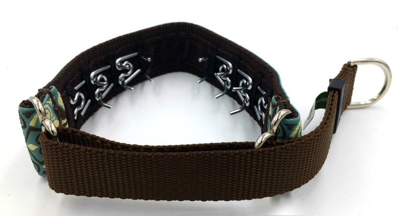 "1"" Elite Custom Ribbon Private Prong Collar"