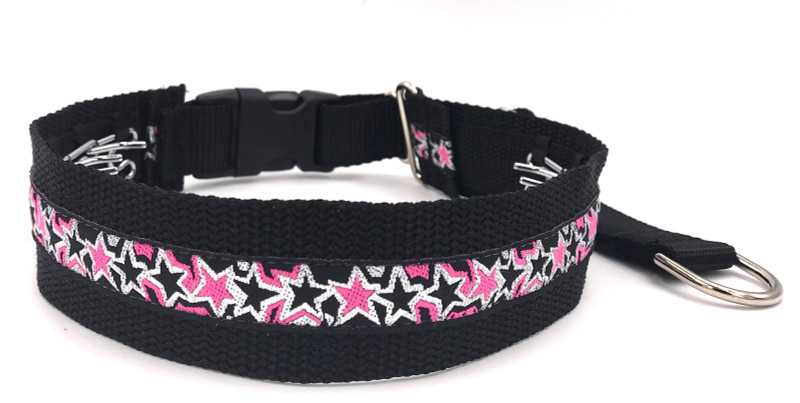 """1.5"""" Superstar Pink Private Prong Collar"""