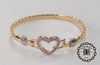 OPEN HEART TAG BANGLE