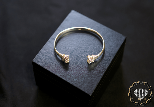 CHILDREN'S BUTTERFLY SILVER BANGLES