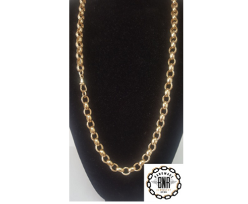LARGE OVAL BELCHER - Solid 9ct yellow gold