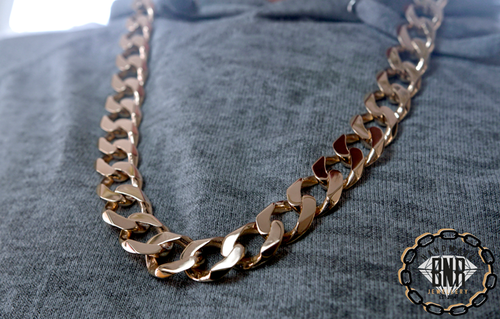 LARGE CURB CHAIN - Solid 9ct gold