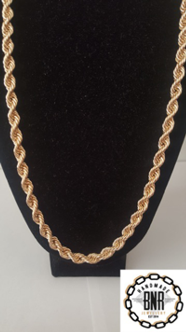LARGE ROPE CHAIN - Men's Solid 9ct Yellow Gold