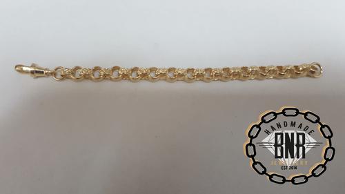 PLAIN BELCHER BRACELET - Solid 9ct gold
