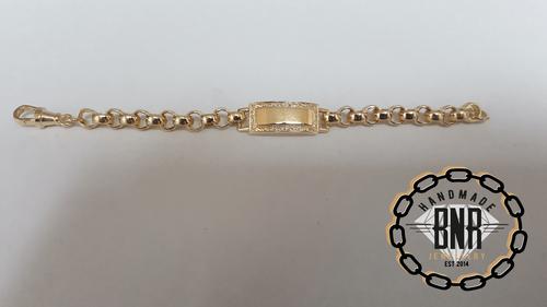 PLAIN I.D. BELCHER BRACELETS - Solid 9ct gold