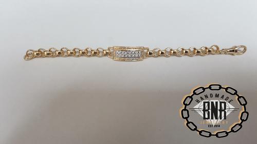 STONE SET I.D. BELCHER BRACELETS - Solid 9ct gold