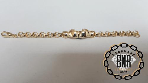 PLAIN BOXING GLOVE BELCHER BRACELET - Solid 9ct gold