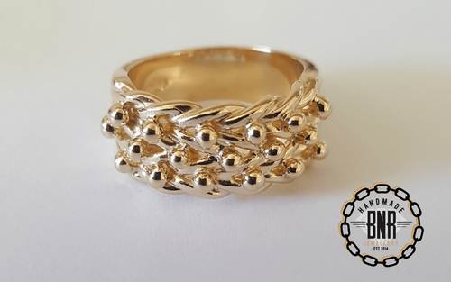 CHILDRENS RING - 9CT YELLOW GOLD - 7.5 Grams 9 mm