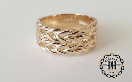 CHILDRENS RING - 9CT YELLOW GOLD - 7 Grams 9 mm