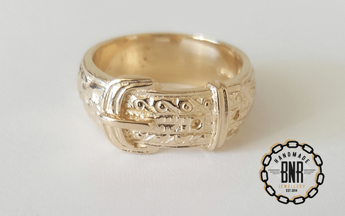 CHILDRENS RING - 9CT YELLOW GOLD - 8 Grams 9.5 mm