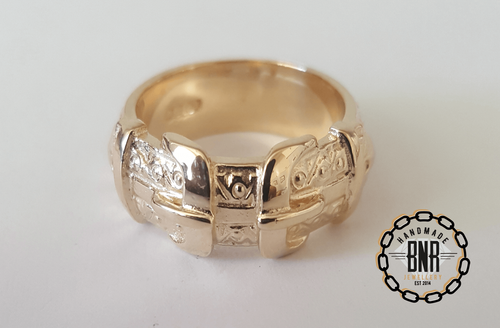 CHILDRENS RING - 9CT YELLOW GOLD - 9 Grams 9 mm