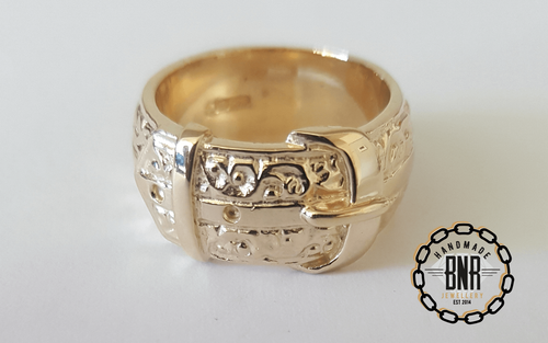 CHILDRENS RING - 9CT YELLOW GOLD - 10 Grams 10.2 mm
