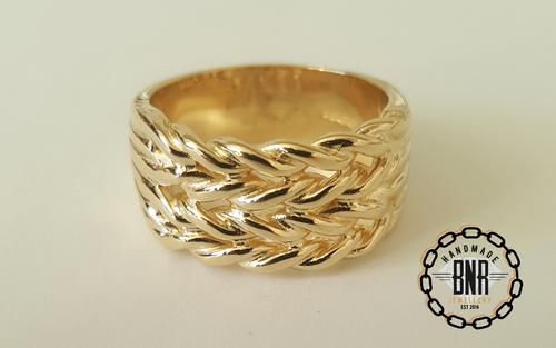 CHILDRENS RING - 9CT YELLOW GOLD - 11 Grams 11 mm