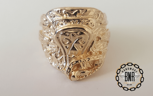 CHILDRENS RING - 9CT YELLOW GOLD - 12.5 Grams 18 mm