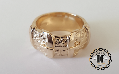 CHILDRENS RING - 9CT YELLOW GOLD - 12.5 Grams 11 mm