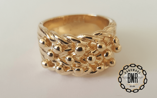 CHILDRENS RING - 9CT YELLOW GOLD - 12 Grams 11 mm