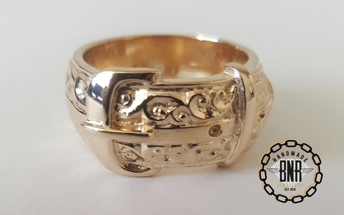 CHILDRENS RING - 9CT YELLOW GOLD - 14 Grams 12.5 mm