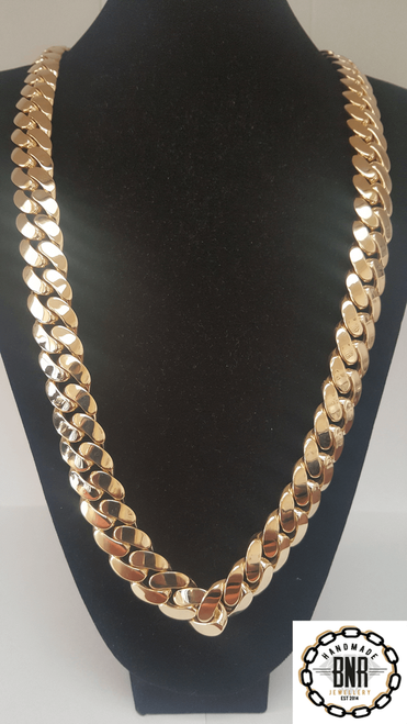 LARGE CUBAN LINK - 609 grams  34 inch