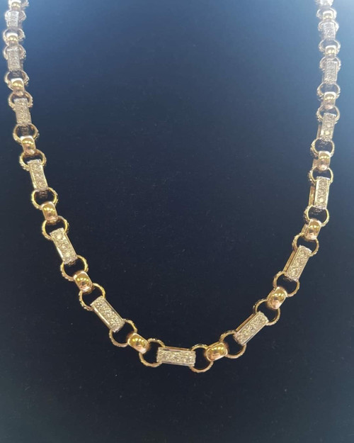 Gypsy Link Chain  8mm Links 83g of solid 9ct Gold