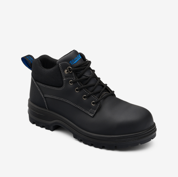 149 - Black Premium Water Resistant Leather Lace-up Safety Boot