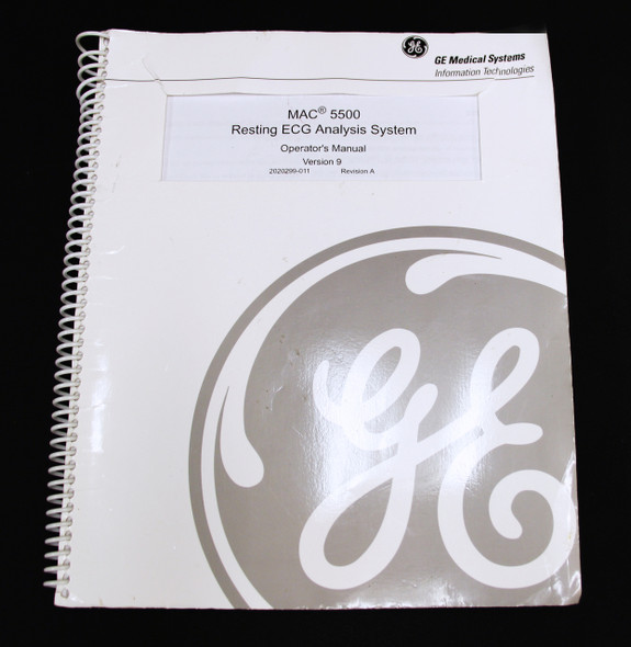 GE MAC 550 Resting ECG Analysis Operation Manual