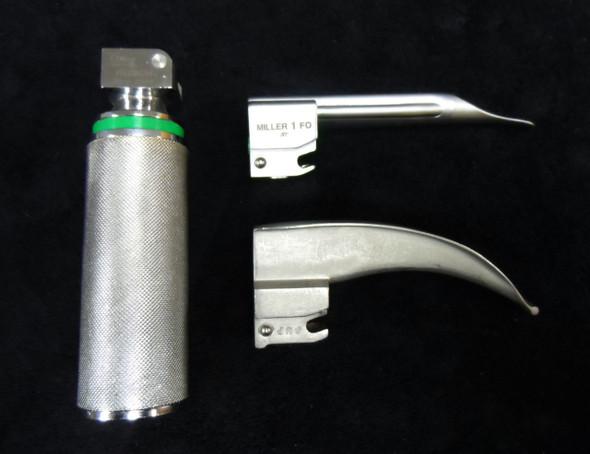 Laryngoscope Blade Set - Miller 1 FO , Mac 1