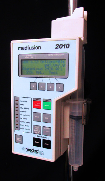 Medex Medfusion 2010 Ambulatory Syringe Pump - 60 Day Warranty