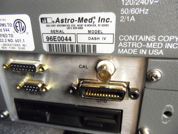Astro-Med Dash IV 4-Channel Chart / Data Field Recorder Astromed