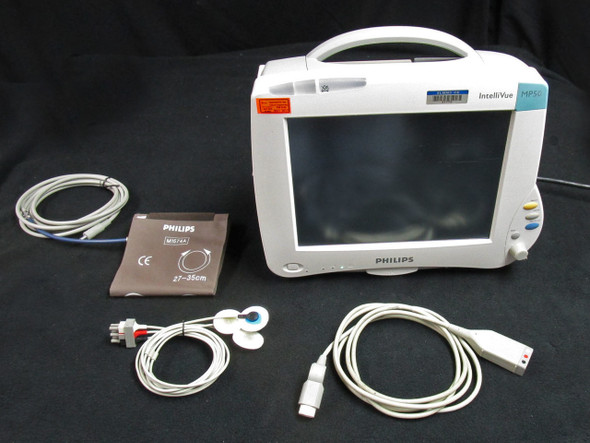 Philips Intellivue MP50 Patient Monitor with M3001A & Cables