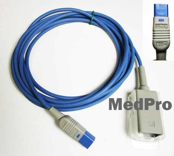 Philips M1943AL SpO2 10 Ft Extension Adapter Cable DB9 to D Connect