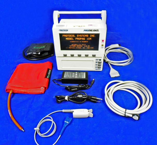 Welch Allyn PROPAQ 104EL Patient Monitor SpO2, ECG, NIBP,  Printer