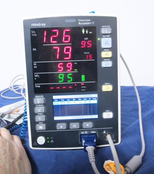 Mindray Datascope Accutorr V Patient Vital Signs Monitor