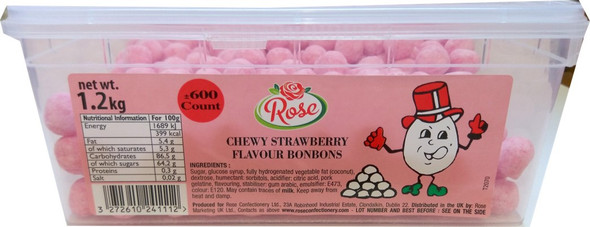 Chewy Strawberry Bon Bons
