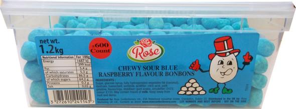 Chewy Sour Blue Raspberry Flavour Bon Bons