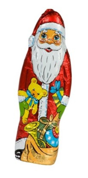 Foil wrapped chocolate santa