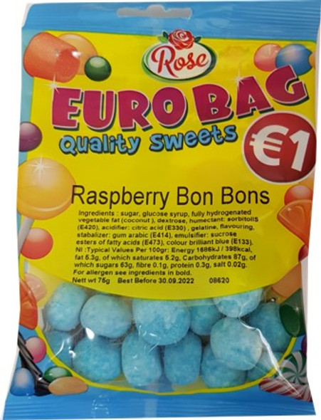 18 x €1 Blue Raspberry Bon Bons