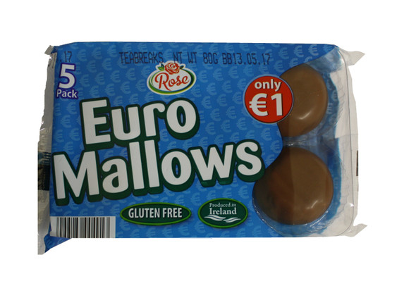 Chocolate covered mallow with biscuit base