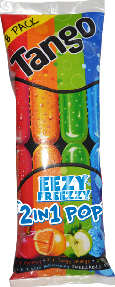 Apple, Orange, Blue Raspberry & Cherry Flavoured Pop