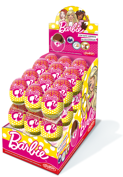 24x€1.29 Barbie Chocolate Surprise Egg 20g