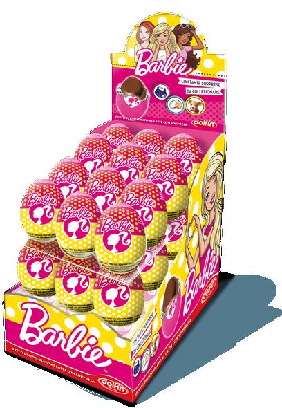 24x€1.29 Barbie Chocolate Surprise Egg 20g