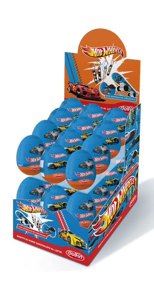24x€1.29 Hot Wheels Chocolate Surprise Egg