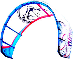 Example of a C Kite for kiteboarding