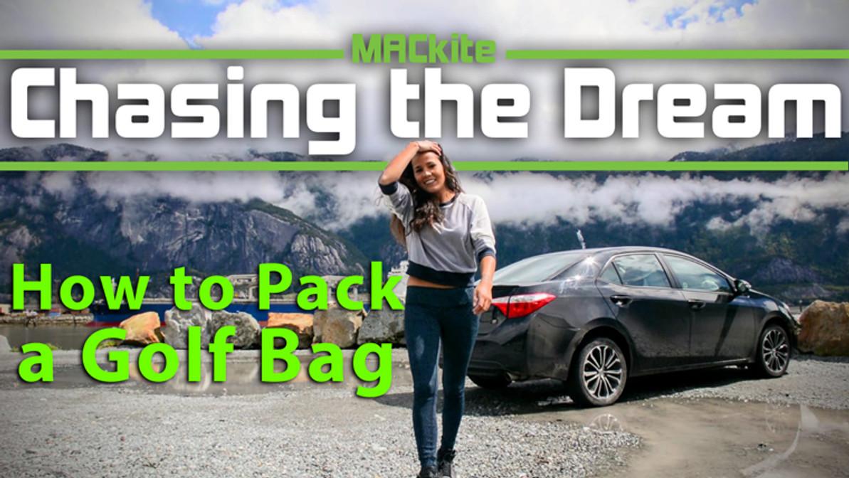 Packing a kiteboarding Golf Bag