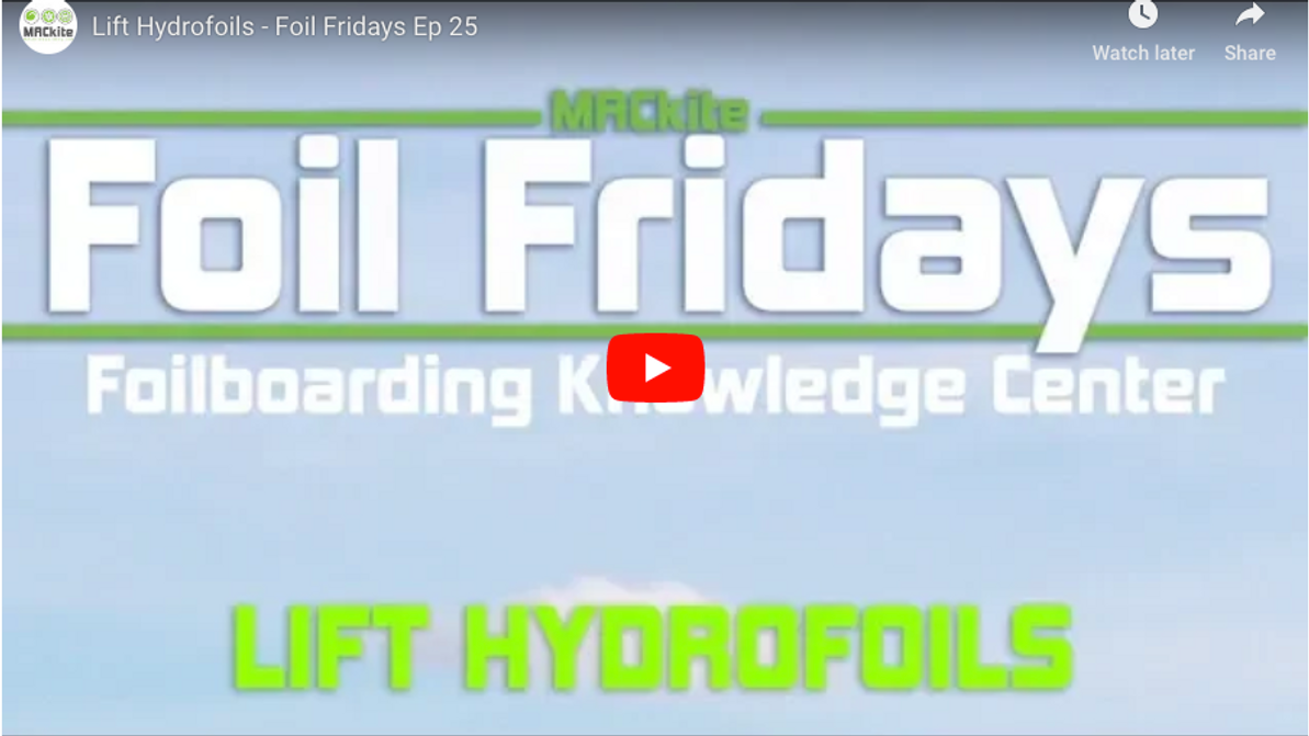 Hydrofoiling: Lift Hydrofoil Product Overview