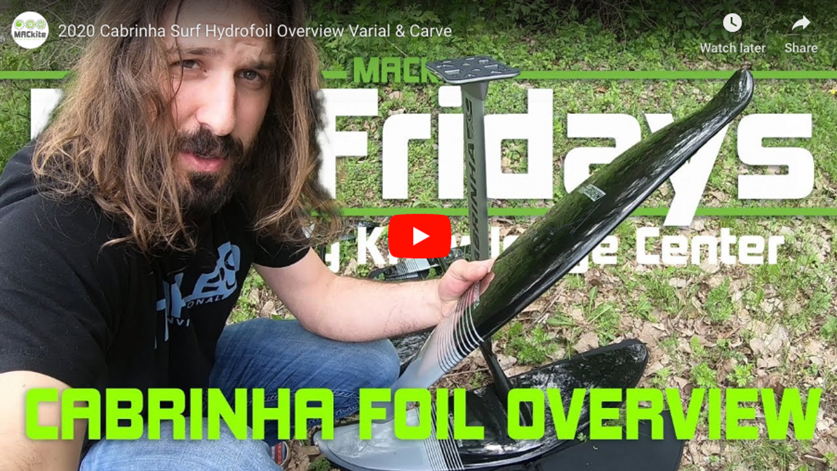 Foil Fridays - Cabrinha Varial and Carve Hydrofoil Overview and Comparison